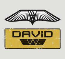 Prometheus David - Patch and Wings (Android) - Weyland Logo by James Ferguson - Darkinc1