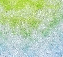 Cloudy Green and Blue by lolohannah