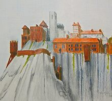 Monastery Series—Cliff Face Fortified Monastery by Christopher Hinson