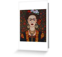 Frida Kahlo with butterflies  Greeting Card
