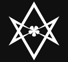 Aleister Crowley - Magick Symbol - Golden Dawn - Occult - Thelema (White on Black) by James Ferguson - Darkinc1