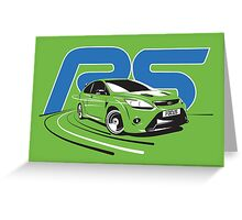 Ford Focus RS Mark 2 Greeting Card