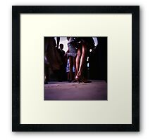 Young lady dancing in Spanish wedding party dance Hasselblad  analog film still life photo Framed Print