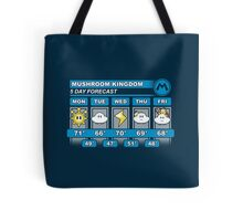 Mushroom Kingdom 5 Day Weather Forecast Tote Bag