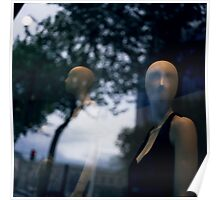 Surreal shop dummy mannequin portrait square color analogue medium format film still life Hasselblad  photo Poster