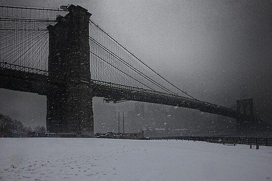 Brooklyn Bridge Blizzard by Chris Lord