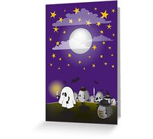 halloween hedgehogs party gang Greeting Card