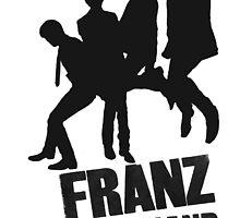 Franz Ferdinand Black and Words by PhilosophyArt