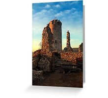 The ruins of Waxenberg castle | architectural photography Greeting Card