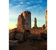 The ruins of Waxenberg castle | architectural photography Photographic Print