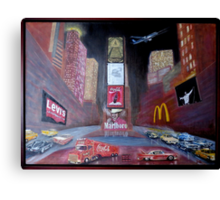 ELVIS in Times Square Canvas Print