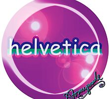 helvetica sample for cool designers by STORMYMADE