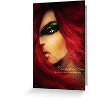red haired woman Greeting Card