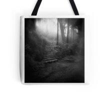 Mountain Steps B&W (Holga) Tote Bag