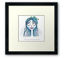 Corpse bride Framed Print