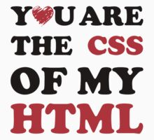 Your Are The CSS Of My HTML by popculture