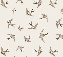 Vintage Swallows by B Rush