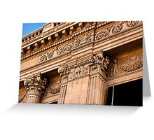 Architectural Detail of an Old Building in Fresno California Greeting Card
