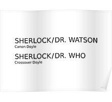 Sherlock & Dr. Watson & Dr. Who  Poster