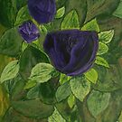 Purple Roses by George Hunter