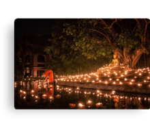 Makha Bucha in Thailand Canvas Print