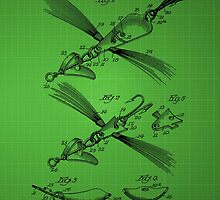Fish Lure Patent 1933 - Green by chris2766
