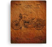 Harley Davidson Motorcycle Patent 1925 Canvas Print