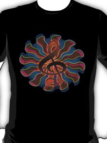 Sunset Treble Clef / G Clef Music Symbol T-Shirt