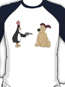 Wallace and Gromit - Evil Penguin/Chicken T-Shirt