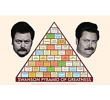 The Ron Swanson Pyramid of Greatness Photographic Print