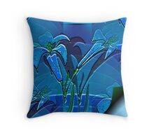 Blue Page Throw Pillow