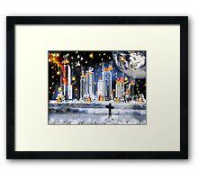 City Of The Dead...when worlds collide Framed Print