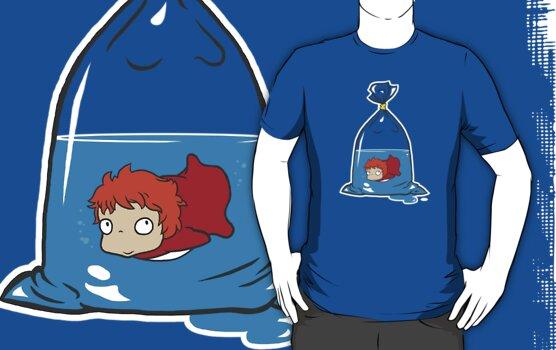 Ponyo fishie bag !! by Baznet