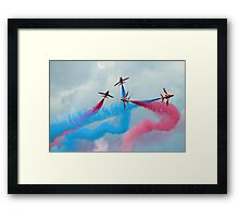 The Red Arrows Gypo Break - Dunsfold 2014 Framed Print