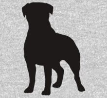Rottweiler Silhouette Kids Clothes