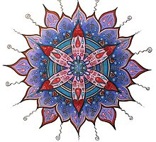 Mandala : Red Heart Passion by danita clark