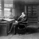 Portrait of Charles Dickens in His Study by Vintage Works
