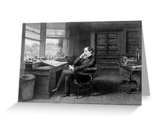 Portrait of Charles Dickens in His Study Greeting Card
