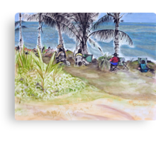 Artists by the Sea, Flying Fish Point  Canvas Print