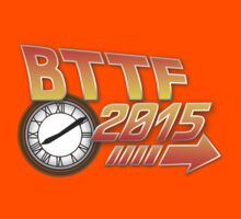 Back to the Future 2015 Logo with Clock Kids Clothes