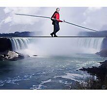 Nik Wallenda STUNTMAN COMPLETES NIAGRA FALLS HIGH WIRE WALK Photographic Print