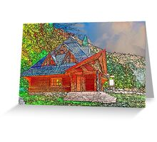 Wooden house of forester Greeting Card