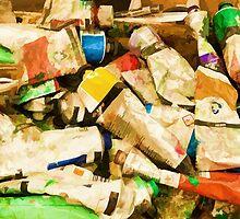 Empty tubes of under paint by Benjamin Gelman