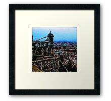 Edinburgh From Edinburgh Castle Framed Print