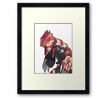 Primal Groudon Framed Print