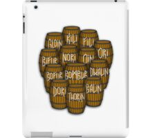 Dwarves in barrels from The Hobbit iPad Case/Skin