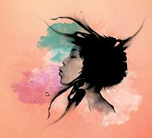 Psychedelic Blow Japanese Girl by Pepe Psyche