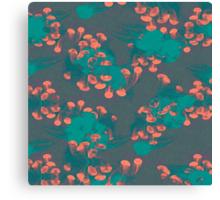 Medusa / Crazy Jellyfish Blue Atoll Canvas Print