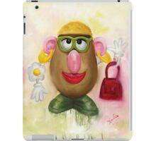 Mrs Potato Head - she's found her eyes! iPad Case/Skin