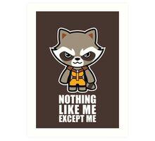 Talking Raccoon Art Print